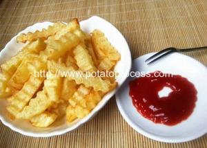 China 300kgh Semi-Automatic Wave Shape Potato Chips Production Line on sale