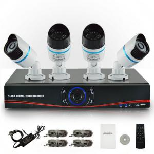 China Portable 4CH NVR Network Video Recorder DVR h264 with 720P IP Camera Support ONVIF on sale