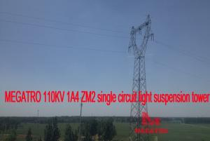 China MEGATRO 110KV 1A4 ZM2 single circuit light suspension tower;angle steel towers;power angular steel tower of 110kv line on sale