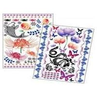 Semi - transparent protective paper Customized temporary tattoo sticker for adults