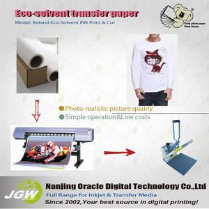 China Light ecosolvent T-shirt transfer paper on sale