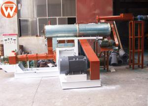 China Sinking Floating Fish Feed Plant Wet Steam Type 1-3t/H 155mm Screw Low Noise on sale