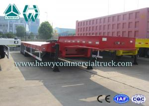 China SINOTRUK HUAWIN 3 Axles Semi Low Bed Trailer Extendable High Tensile Steel Q345B on sale