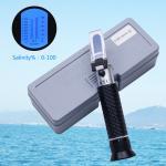 100 Ppt Handheld Salinity Refractometer , 1.070sg Atc Sea Gravimeter Aquarium