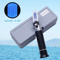 China 100 Ppt Handheld Salinity Refractometer , 1.070sg Atc Sea Gravimeter Aquarium on sale