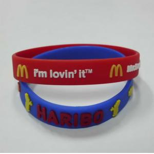 China Embossed Silicone Bracelets for Promotional, Embossed Silicone Wristband on sale