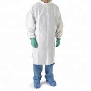 China Chemical anti-dust waterproof Breathable mircoporous lab coat on sale