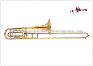 """China Nickel silver Tuning Slide Gold Lacquer Tenor Professional Trombones With 0.492"""" Bore size on sale"""