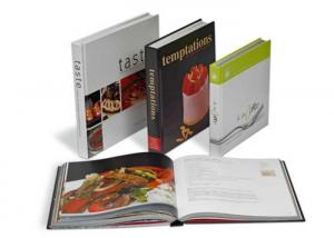 China Custom Healthy Salmon Recipes Printing Service / Baking Recipe Cookbook Printing on sale