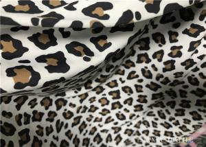 China Custom Printed Double Knit Fabric Panther Print With Wet Screen Printing on sale
