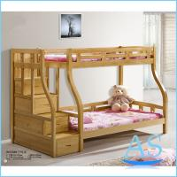 China Beech Solid Wood Adult bunk bed/ children bed/ double bed Bedroom Furniture B508