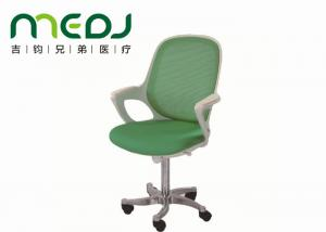 China Green Rotary Doctor Stool Chair , MJYZ01-04 Steel Frame Doctor Stool With Wheels on sale