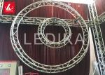 Screw Lighting Circular Aluminum Square Truss For Exhibition , Parties