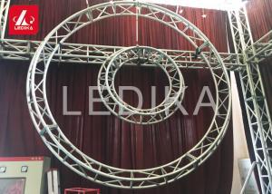 China Screw Lighting Circular Aluminum Square Truss For Exhibition , Parties supplier