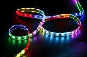 China Multi Color 5m Roll Flexible RGB Led Strip 32 Leds 32 IC WS2801 Super bright Led Strips on sale