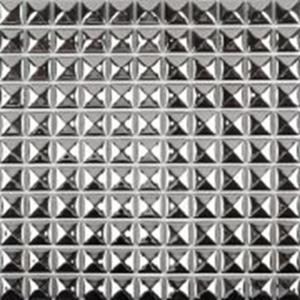 China Decorative Silver Metallic Floor Tiles , Solid Mirror Metallic Mosaic Bathroom Tiles on sale