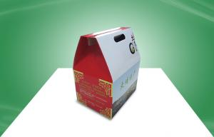 China Custom Corrugated Paper Box Packaging Carton Box with Lift Handle for Food / Gift on sale