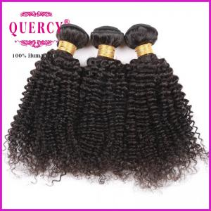 China 8A 100% Unprocessed Virgin Remy Kinky Curl Brazilian Human Hair weave on sale