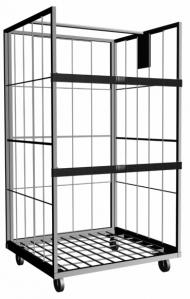 China Vertical Roll Cage Containers With Powder Coating or Galvanizing Surface For Material Storage on sale