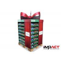 Cardboard POP Pallet Display Shelves Full Size For Batteries , OEM ODM Service