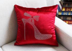 China High Heels Red Cushion Cover Luxury European Favor  Seat Chair Pillow Cover Velvet Square Pillowcase on sale