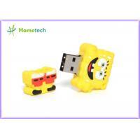 Yellow SpongeBob Cartoon USB Flash Drive Rectangle FileTransfer