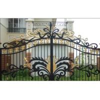 Garden wrought iron gate and fence,luxury wrought iron gate,decorative wrought iron gates