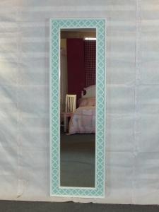 Light blue framed full length floor mirror for sale – Floor wood ...