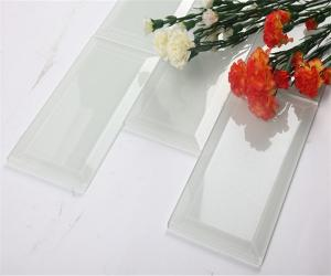 China Antioxidant Transparent Glass Mosaic Subway Tile / Brick Glass Tile on sale