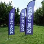 Hottest selling custom flying style fiberglass pole flag for outdoor advertising