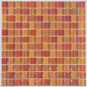 China Iridescent Crystal Glass Mosaic Tile, 23x23mm Kitchen Mosaic Wall Tiles on sale