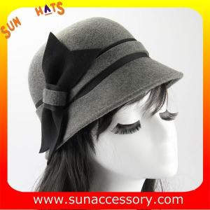 China 1403 Sun Accessory grey wool felt cloche hats ,Shopping online hats and caps wholesaling on sale