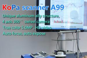 China 5.0 MP HD1080P Portable Office Document Scanner With Micro Camera on sale