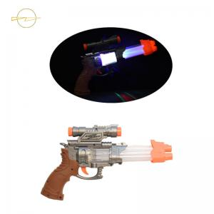 China Battery Operated Sound Light Up Toy Gun Weapon 3 LEDs  Cute Appearance on sale