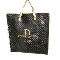 Waterproof 75g black quilted unwoven fabric zipper reusable carrier bags