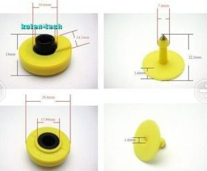China ISO 11784 Standard RFID Access Control UHF RFID TPU Material Ear Tag Yellow on sale