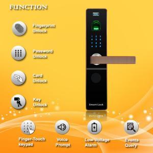 China Contactless Fingerprint Door Locks For Your Home , Bluetooth Entry Door Lock on sale