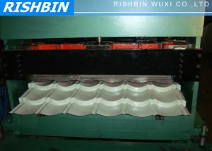 China Glazed Wave Roof Tile Roll Forming Machine for Color Steel Tile , Roof Wall Cladding on sale