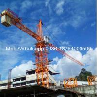 Easy Transfer Heavy Construction Machinery , 6 Ton 0 - 80m Span Hydraulic Self - Raising Tower Crane Loader