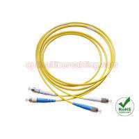 FC To FC G652D Duplex Single Mode Fiber Optic Jumper , OFNR OFNP or LSZH Duplex Patch Cord