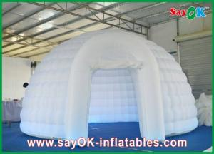 China Dome Inflatable Air Tent Strong Fire-proof Cloth With Led Lights on sale