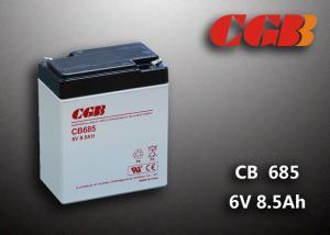 China 6V 8.5AH CB685 VRLA AGM Battery , Black Retardant Medical Equipment Battery on sale
