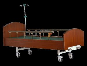 China Multi Size Medical Hospital Bed , Luxury Hospital Beds With Two Cranks Three Folding on sale