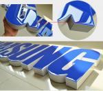 Les couleurs renvoient le Signage énuméré par UL de l'acier enduit par zinc sans monture LED de lettres de la Manche de Lit de visage de résine illuminé