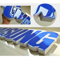 China Colors Return Resin Face Lit Channel Letters Rimless Zinc Coated Steel UL Listed LED Signage Illuminated on sale