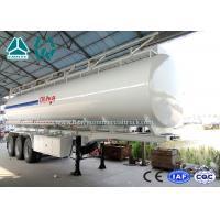 China 3 Axle Crude Oil Fuel Tank Semi Trailer with Single Cabin A / C , 36 Cbm Volume on sale