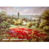 China Impressionist flower field landscape paintings / Handmade oil painting makers(Item no: YH0021L) on sale