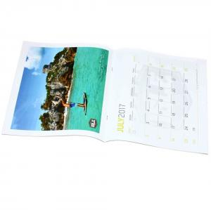China Saddle Stitching Annual Wall Calendar , Cardboard Big Paper Wall Calendar on sale