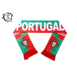 China One Size Sports Team Sublimation Scarf Portugal With Logo Printing on sale