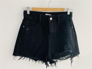 China Fashion Ladies black Denim Short / denim short high rise Push Up Bermuda TM7065 on sale